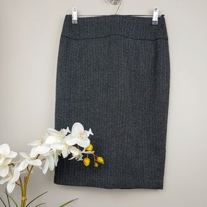 Gray Pencil Skirt Sz 6 - Perfect for office
